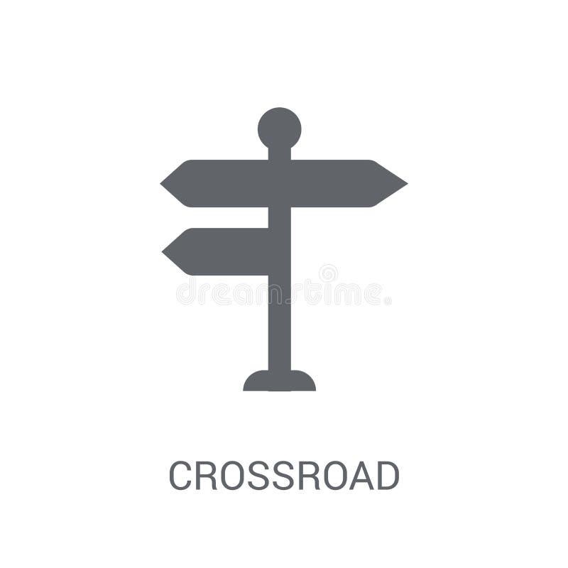 Icône de signe de carrefour  illustration stock