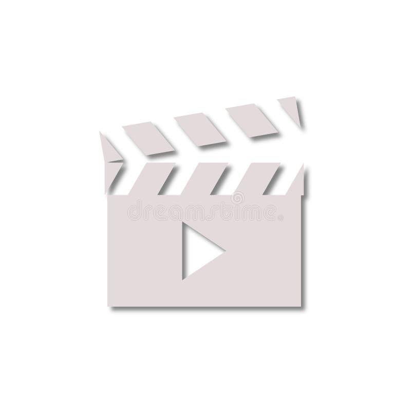 Icône de signe de clapet de film illustration libre de droits