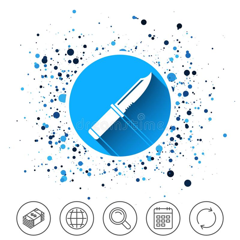 Icône de signe de couteau Symbole bordé d'armes illustration libre de droits