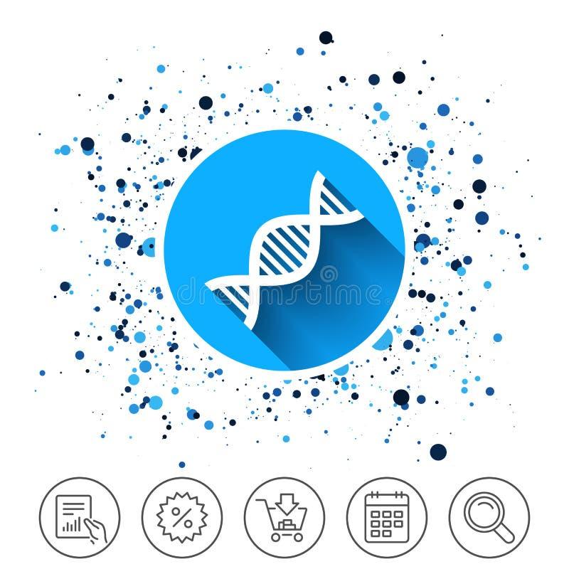 Icône de signe d'ADN Symbole d'acide désoxyribonucléique illustration de vecteur