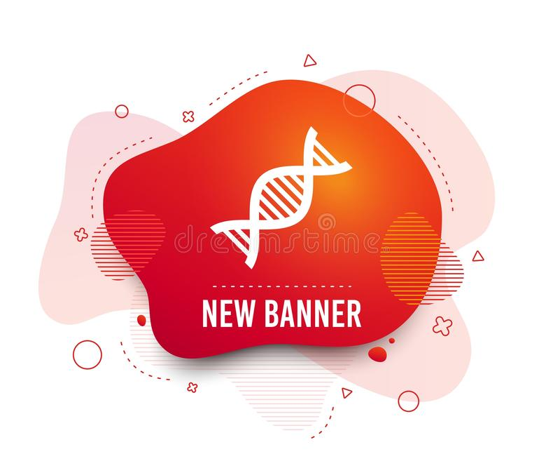 Icône de signe d'ADN Symbole d'acide désoxyribonucléique Vecteur illustration stock