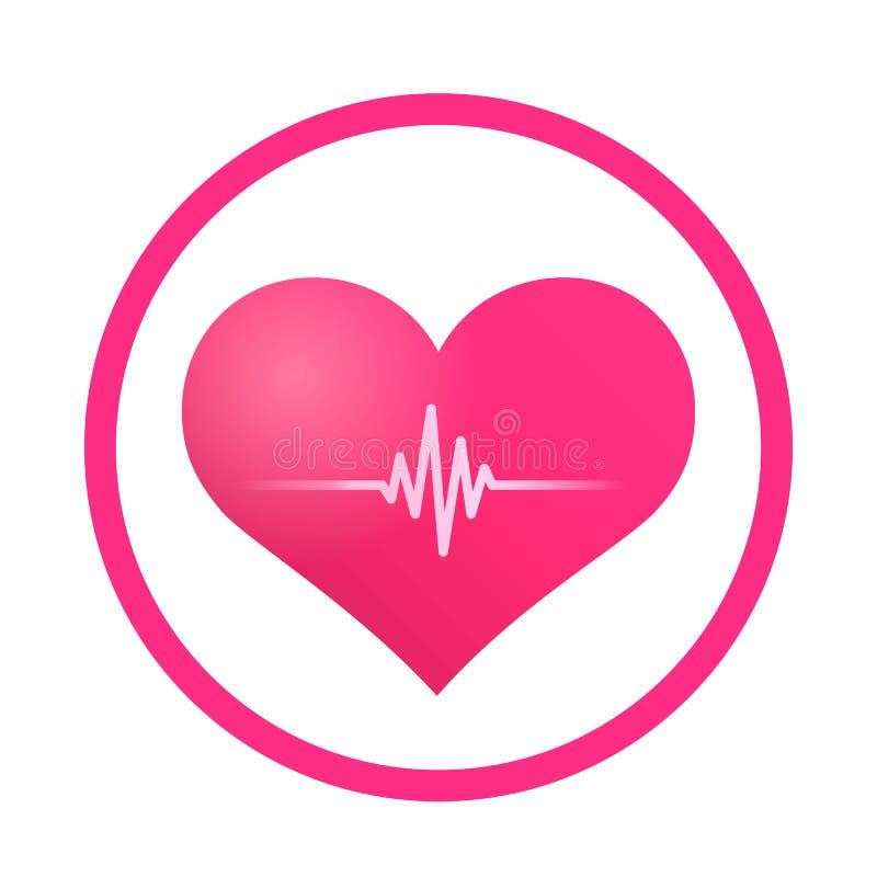 Icône de signe d'impulsion de coeur illustration libre de droits