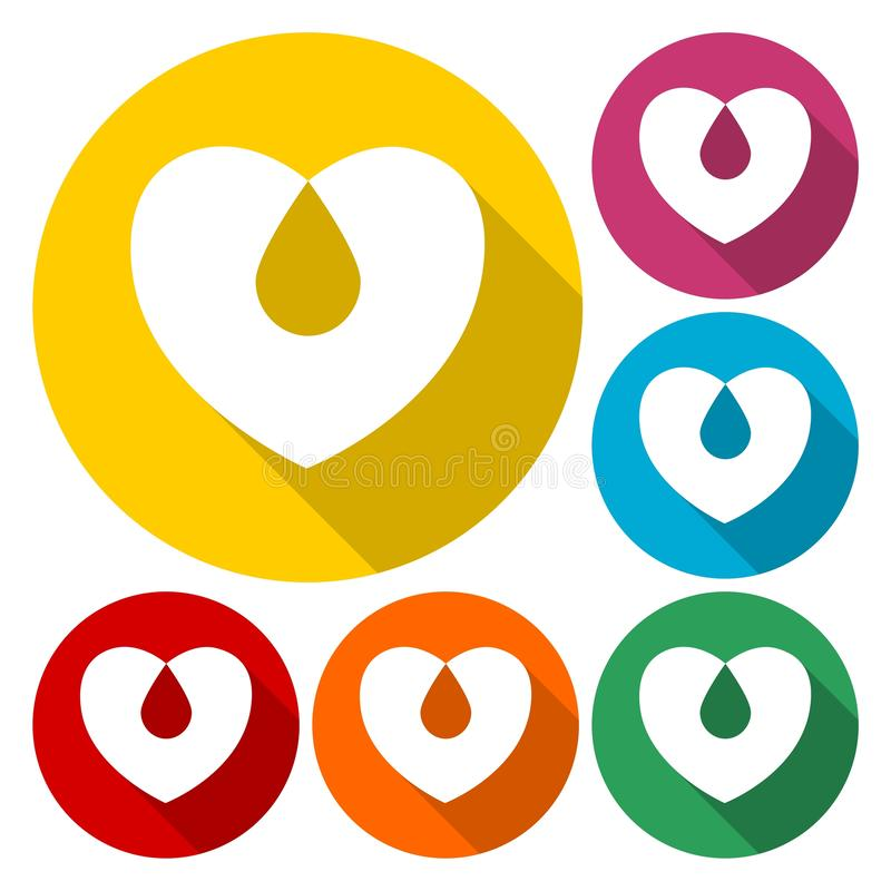 Icône de signe de don du sang illustration stock