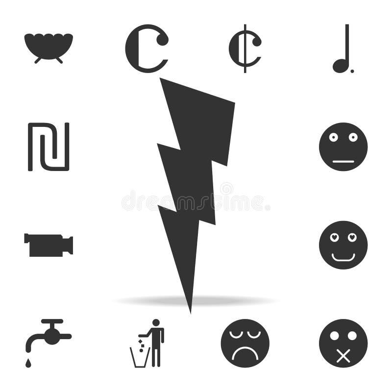 icône de signe de foudre Ensemble détaillé d'icônes et de signes de Web Conception graphique de la meilleure qualité Une des icôn illustration stock
