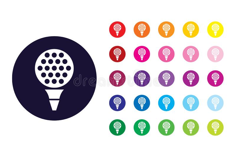 Icône de signe de golf Symbole de couleur de golf illustration de vecteur
