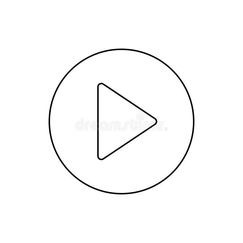 Icône de signe de jeu Élément de Web pour le concept et l'icône mobiles d'applis de Web Ligne mince icône pour la conception de s illustration libre de droits