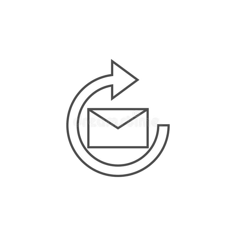 icône de signe de mise à jour de courrier Élément pour les apps mobiles de concept et de Web Ligne mince icône pour la conception illustration stock