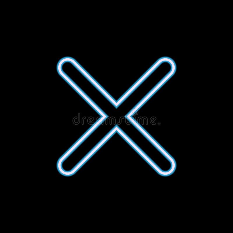icône de signe de multiplication dans le style au néon Un de l'icône de collection de Web peut être employé pour UI, UX illustration de vecteur