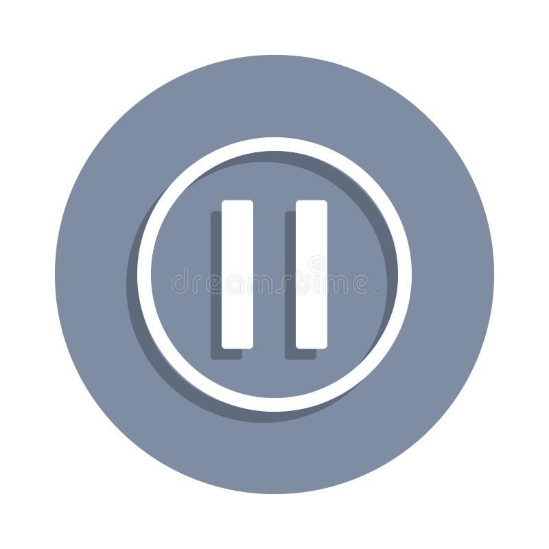 icône de signe de pause dans le style d'insigne Un de l'icône de collection de Web peut être employé pour UI, UX illustration stock