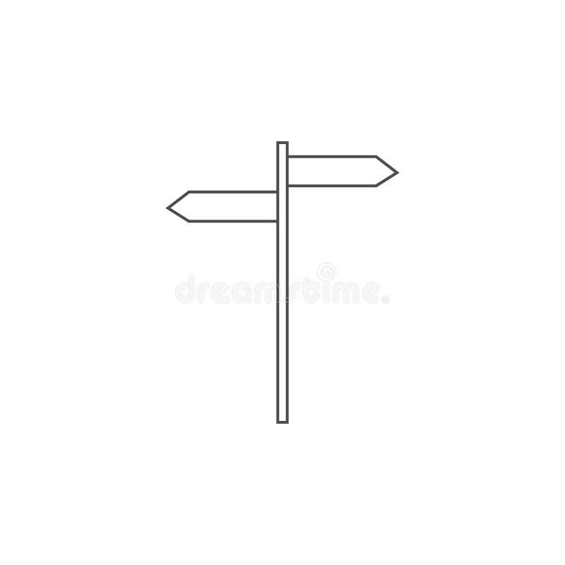 icône de signe de pilier Élément pour les apps mobiles de concept et de Web Ligne mince icône pour la conception de site Web et l illustration stock