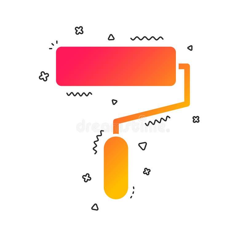 Icône de signe de rouleau de peinture Symbole d'outil de peinture Vecteur illustration stock