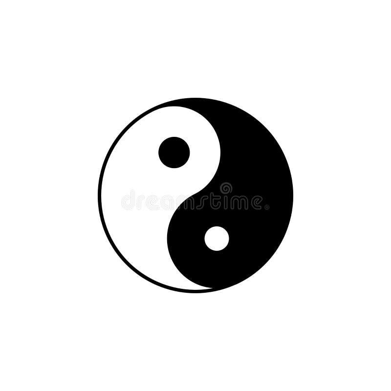 Icône de signe de Taijitu de taoïsme Élément d'icône de signe de religion pour les apps mobiles de concept et de Web L'icône déta illustration stock