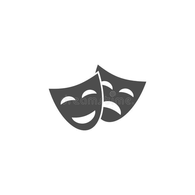 Icône de signe de théâtre Icône d'élément de cinéma Conception graphique de qualité de la meilleure qualité Signes, icône de coll illustration stock