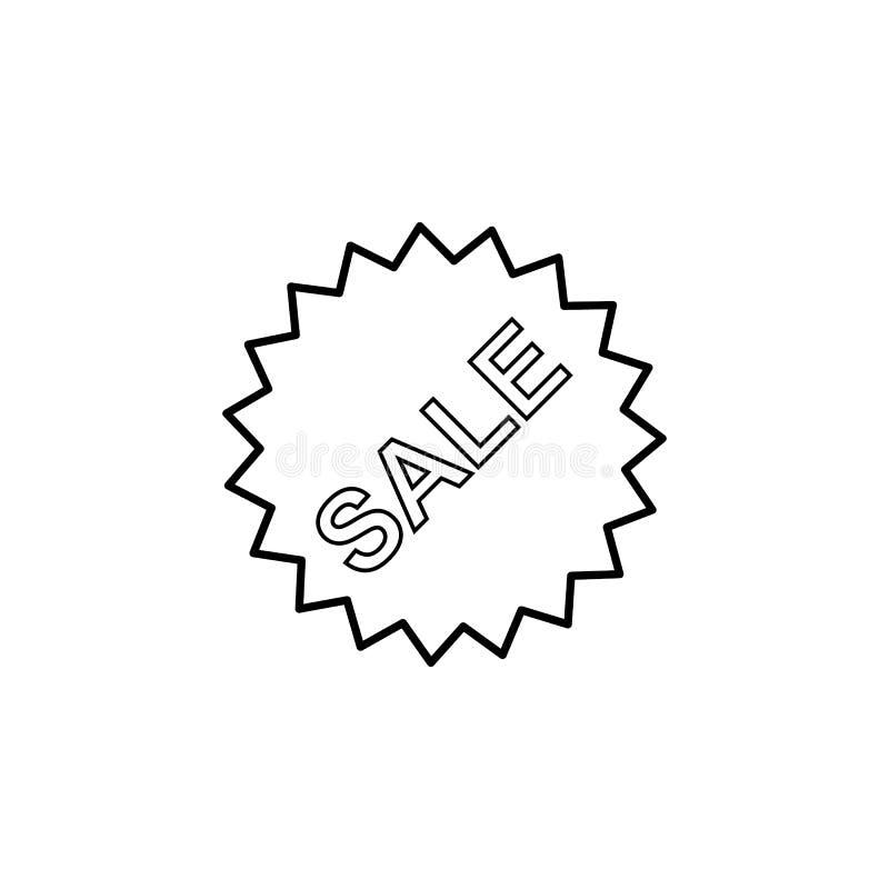 icône de signe de vente de vente Élément d'icône simple pour des sites Web, web design, APP mobile, graphiques d'infos Ligne minc illustration stock