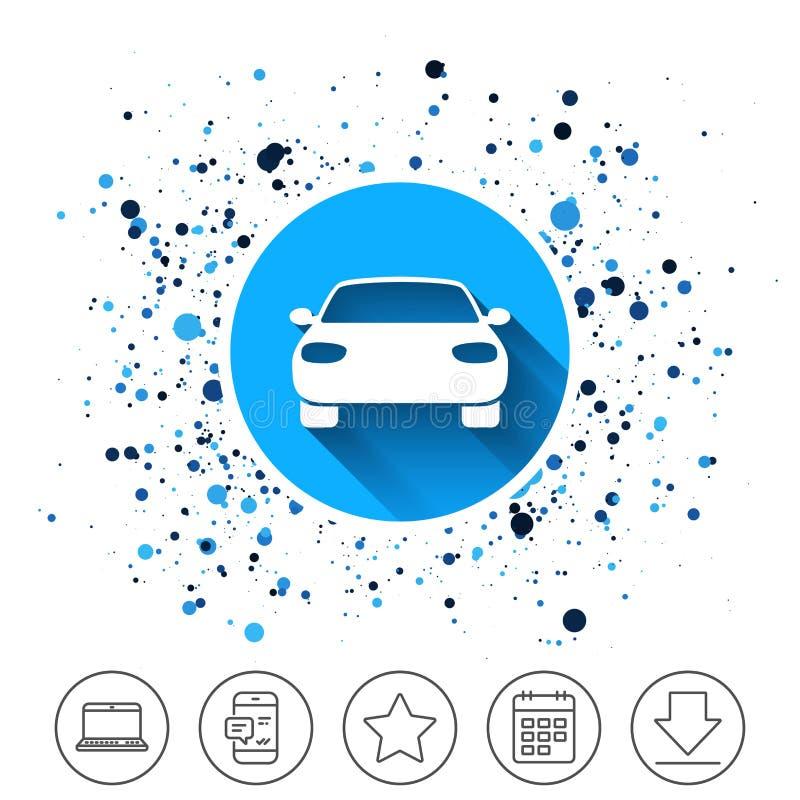 Icône de signe de voiture Symbole de transport de la livraison illustration stock