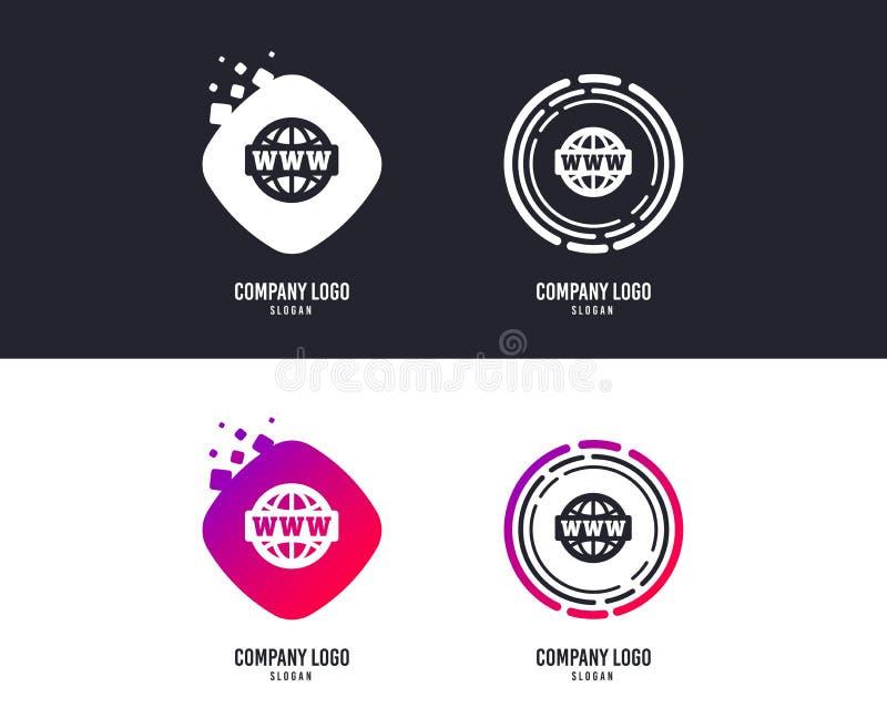 Icône de signe de WWW Symbole de World Wide Web Vecteur illustration libre de droits
