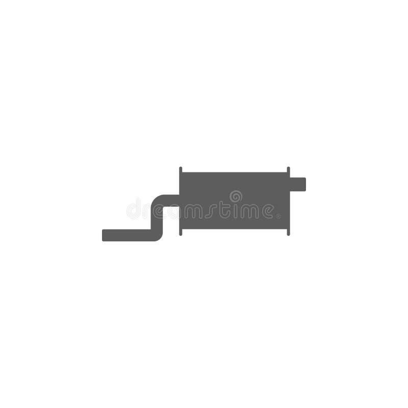 Icône de silencieux de voiture Éléments d'icône de réparation de voiture Conception graphique de qualité de la meilleure qualité  illustration de vecteur