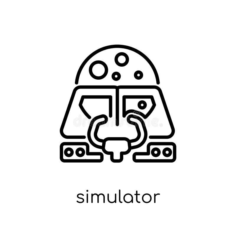 Icône de simulateur de collection d'astronomie illustration stock