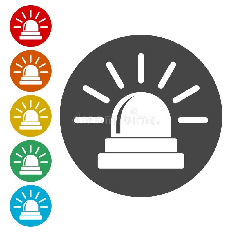 Icône de sirène pour le Web et mobile, icône de vecteur de sirène d'alarme illustration de vecteur