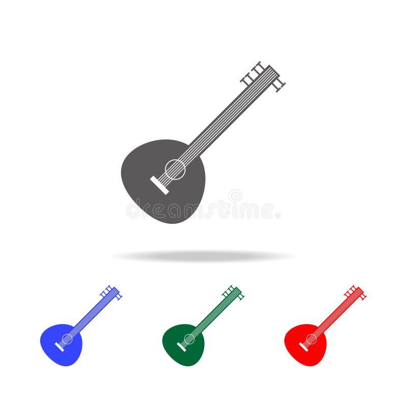 icône de sitar Éléments des icônes colorées multi de culture indienne Icône de la meilleure qualité de conception graphique de qu illustration libre de droits