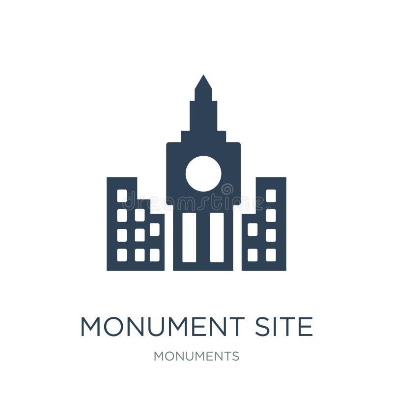 icône de site de monument dans le style à la mode de conception icône de site de monument d'isolement sur le fond blanc icône de  illustration libre de droits