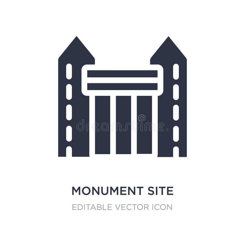 icône de site de monument sur le fond blanc Illustration simple d'élément de concept de monuments illustration libre de droits