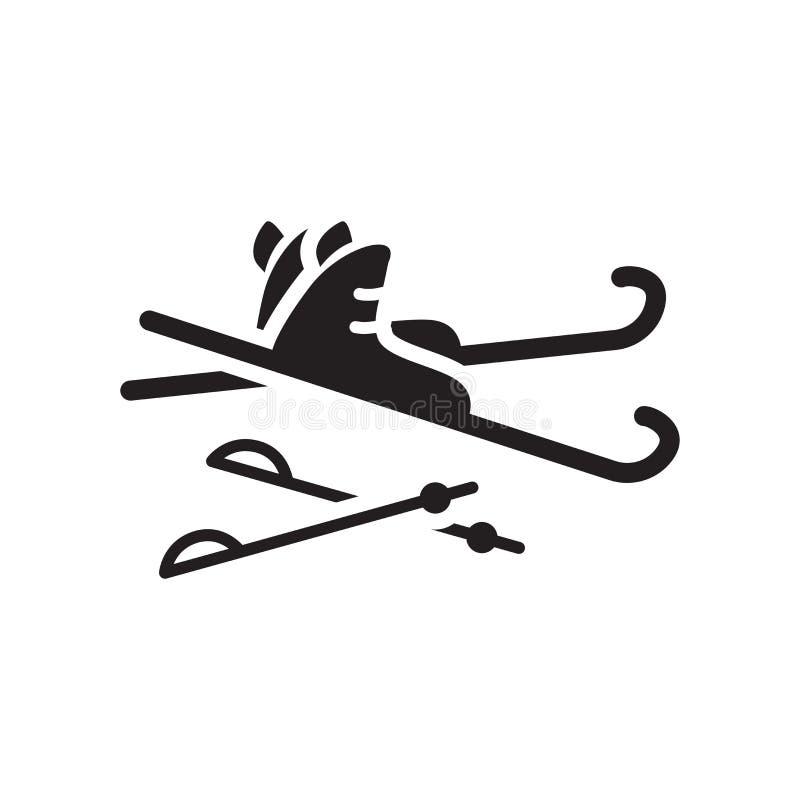 Icône de Ski Equiptment Concept à la mode de logo de Ski Equiptment sur le blanc illustration stock