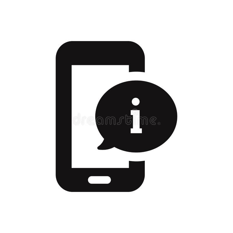 Icône de Smartphone avec le signe d'infos illustration libre de droits
