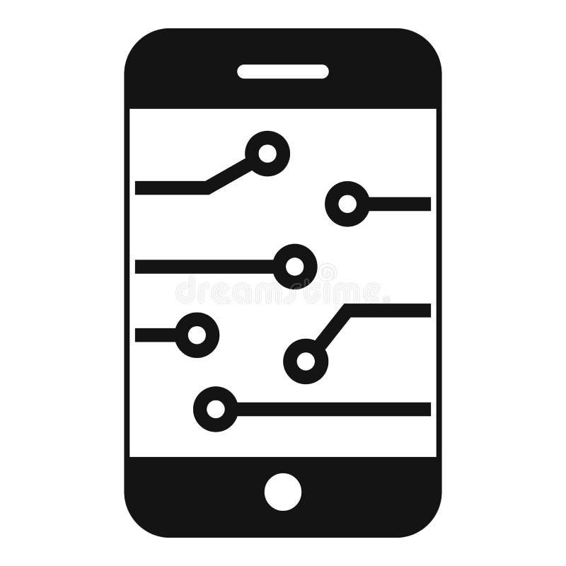 Icône de smartphone d'AI, style simple illustration libre de droits
