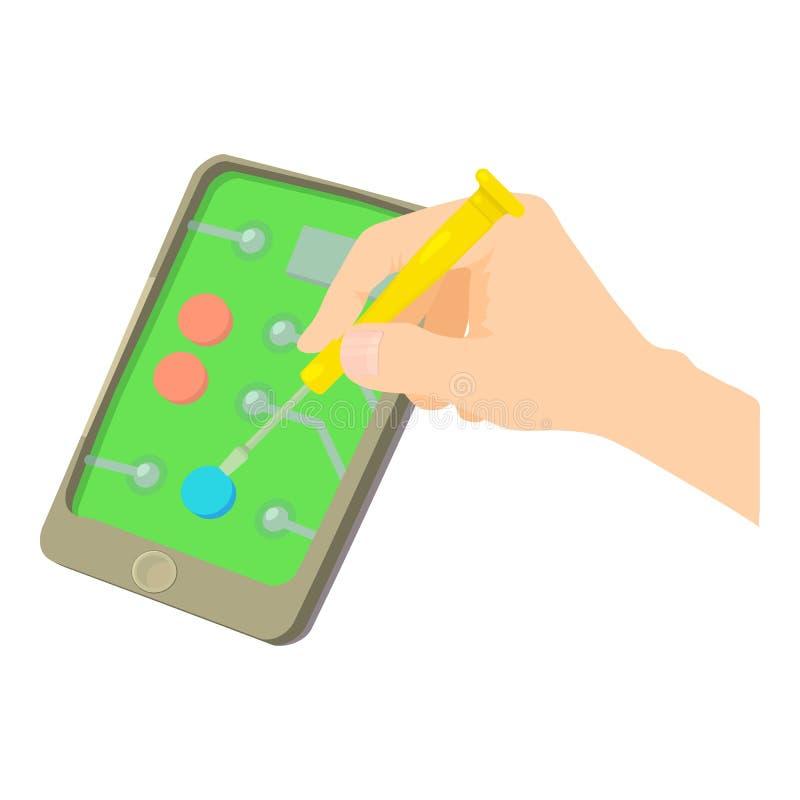 Icône de smartphone de difficulté, style de bande dessinée illustration de vecteur