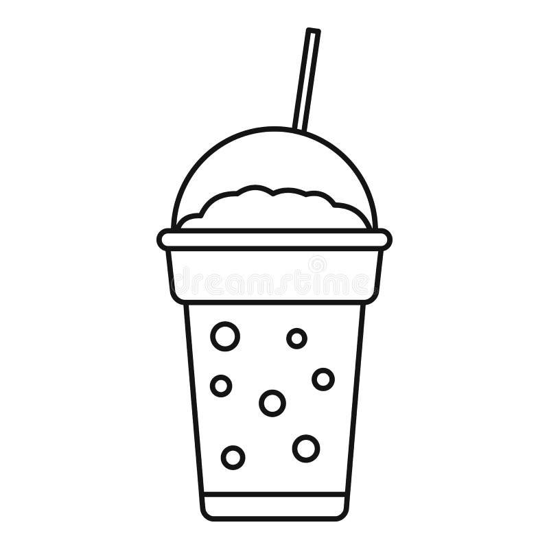 Icône de smoothie de fraise, style d'ensemble illustration stock