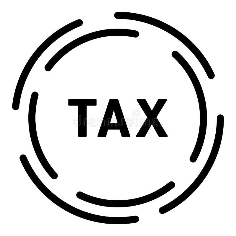 Icône de société d'impôts, style d'ensemble illustration stock
