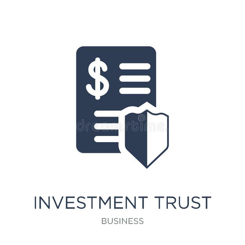 Icône de société d'investissement Icône plate à la mode de société d'investissement de vecteur illustration stock