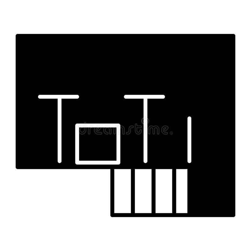 Icône de solide de plan d'étage Illustration de vecteur de plan d'appartement d'isolement sur le blanc Conception de style de gly illustration stock