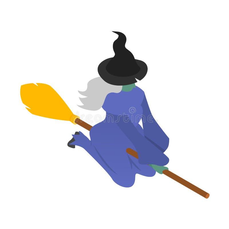Icône de sorcière, style isométrique illustration de vecteur