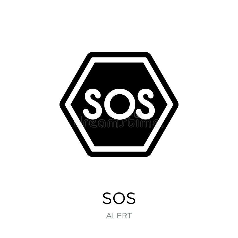 icône de SOS dans le style à la mode de conception icône de SOS d'isolement sur le fond blanc symbole plat simple et moderne d'ic illustration de vecteur