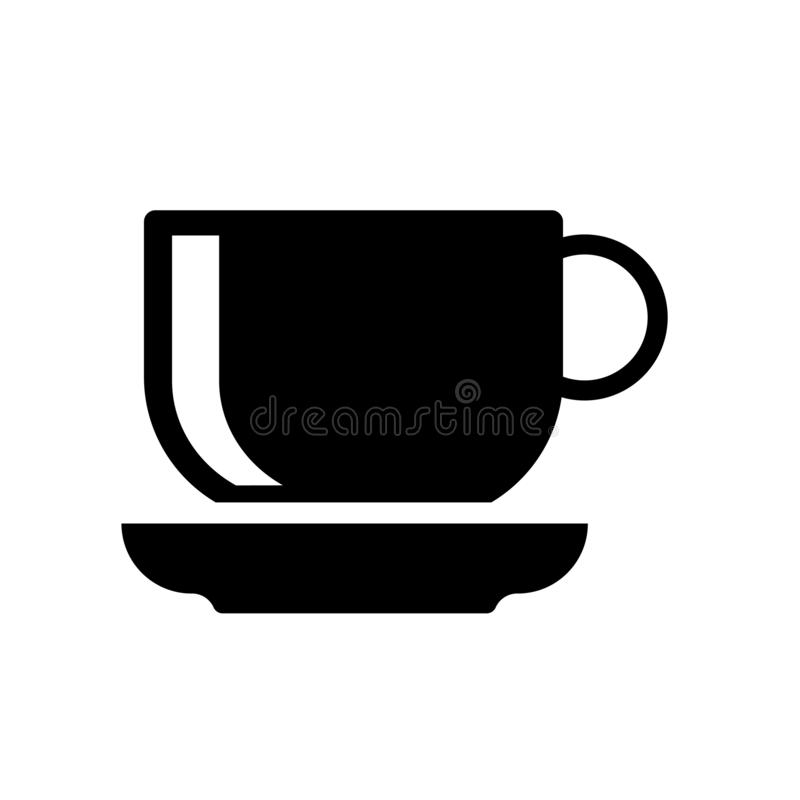 icône de soucoupe  illustration stock