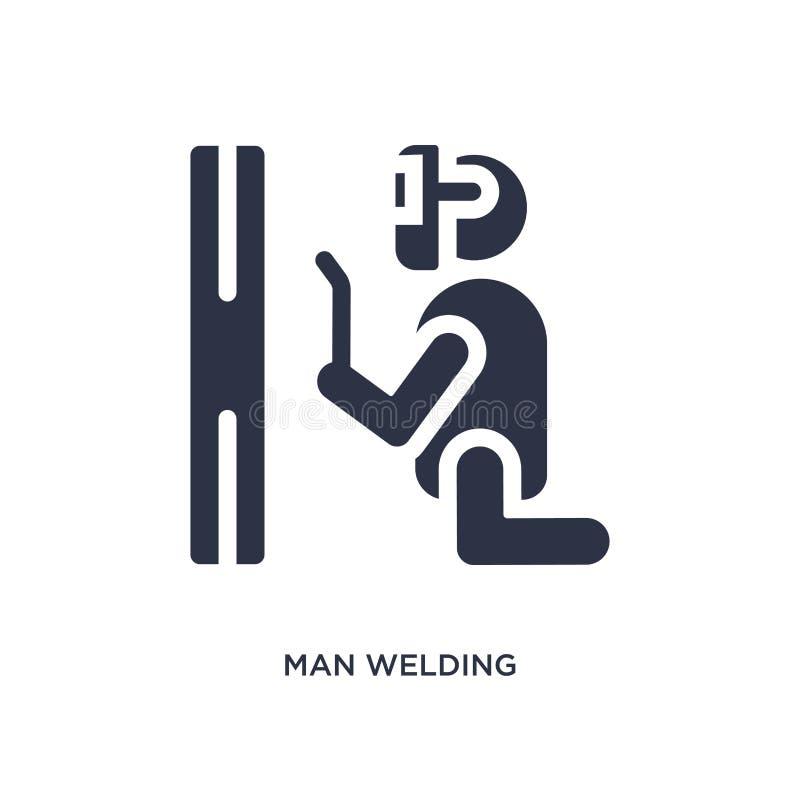 icône de soudure d'homme sur le fond blanc Illustration simple d'élément de concept de comportement illustration de vecteur