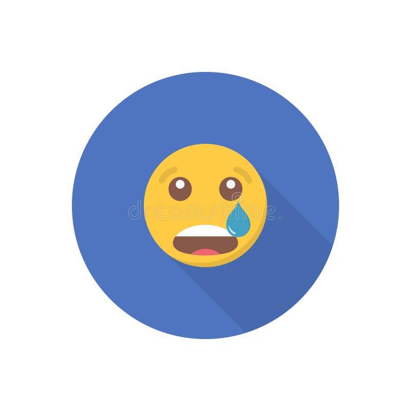 Icône de sourire dans une conception plate avec la longue ombre pour le media social illustration de vecteur