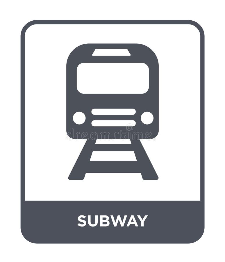 icône de souterrain dans le style à la mode de conception Icône de souterrain d'isolement sur le fond blanc symbole plat simple e illustration libre de droits