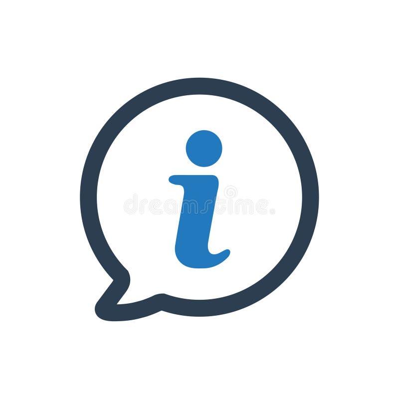 Icône de soutien d'infos illustration de vecteur