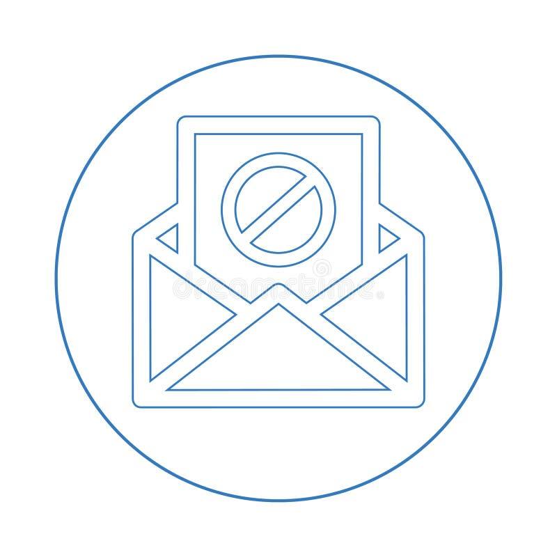 Icône de spamming d'e-mail, envoi de spam, mauvaise adresse e-mail illustration libre de droits