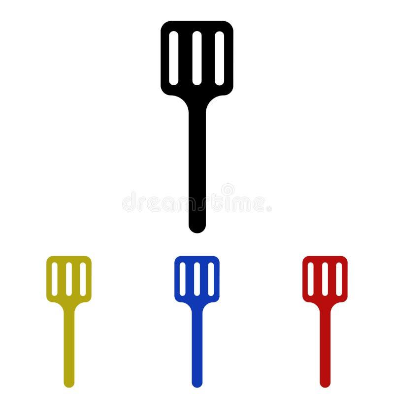 Icône de spatule de cuisine illustration stock