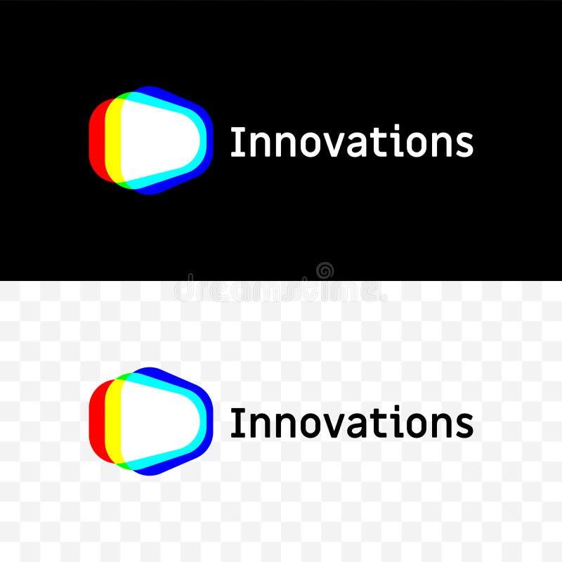 Icône de spectre de lumière de vecteur de société d'innovations illustration stock