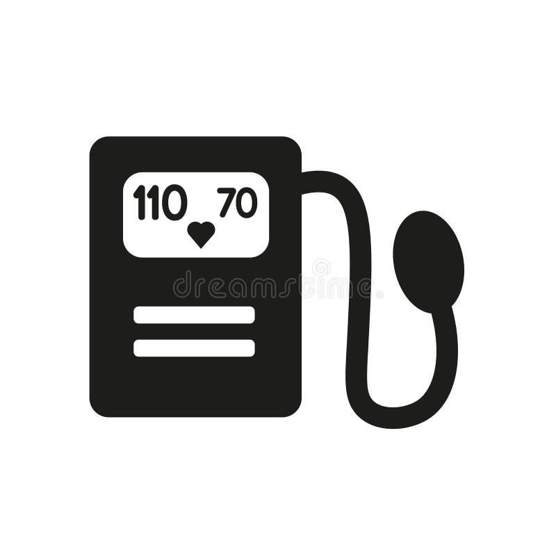Icône de Sphygmomanometer  illustration stock