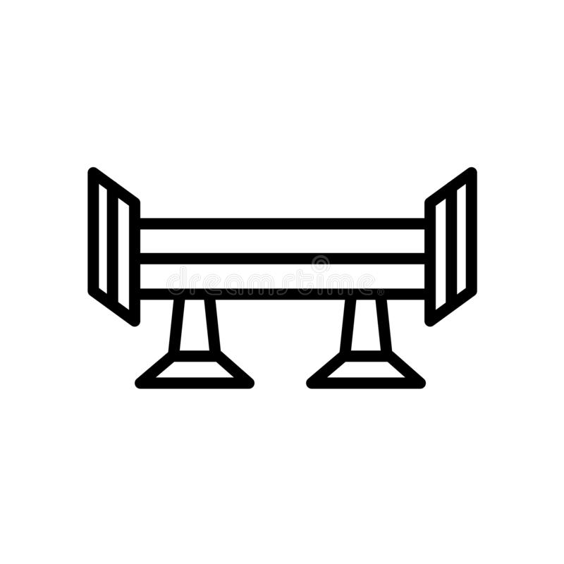 icône de spoiler d'isolement sur le fond blanc illustration stock