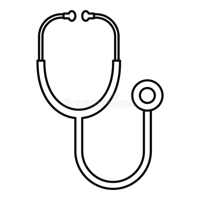 Icône de stéthoscope, style d'ensemble illustration libre de droits