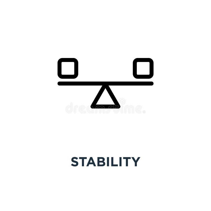 icône de stabilité conception de symbole de concept de stabilité, illustra de vecteur illustration stock