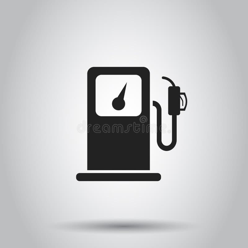 Icône de station de gaz combustible Illustration de vecteur sur le backgroun d'isolement illustration de vecteur