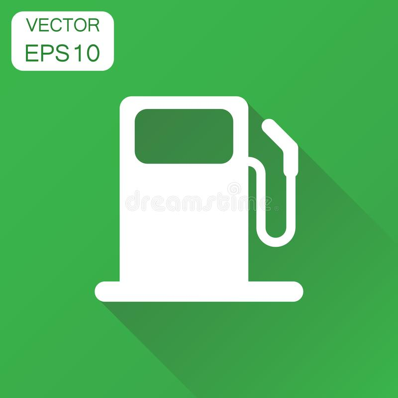 Icône de station de gaz combustible Pompe à essence de voiture de concept d'affaires illustration libre de droits